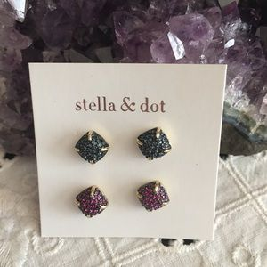 Stella & Dot Pave Dome Stud Pack